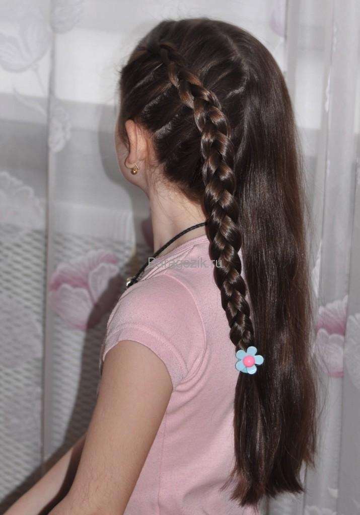 плетение кос наизнанку