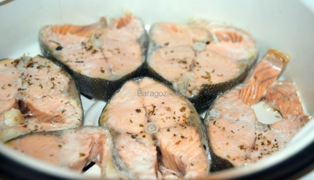 красная рыба на пару для диабетиков