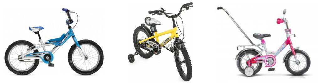 двухколесные велосипеды Trek Float 16 Boys, Capella S-14 Stels Magic 12