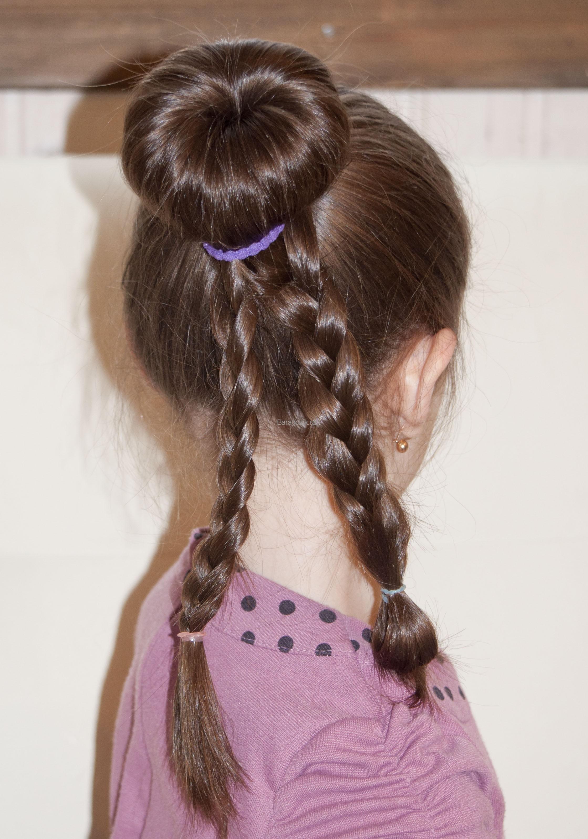 Прическа с рифлеными волосами