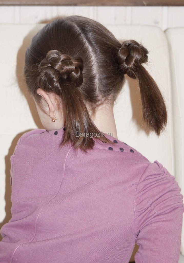 прическа с косами 3