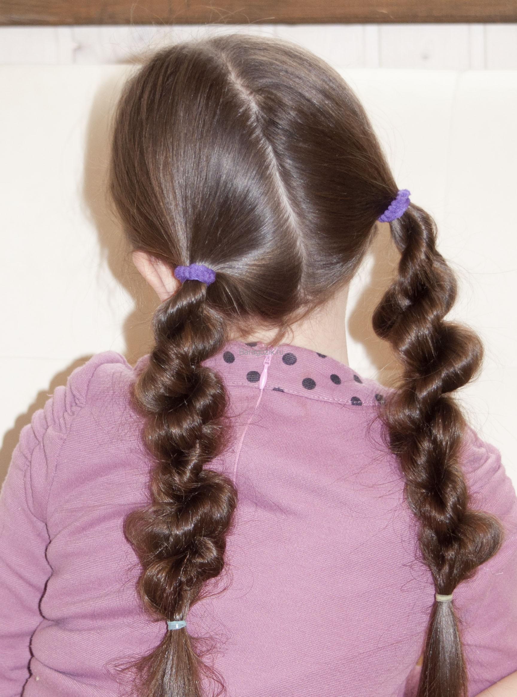 прически на девочек на длинные волосы