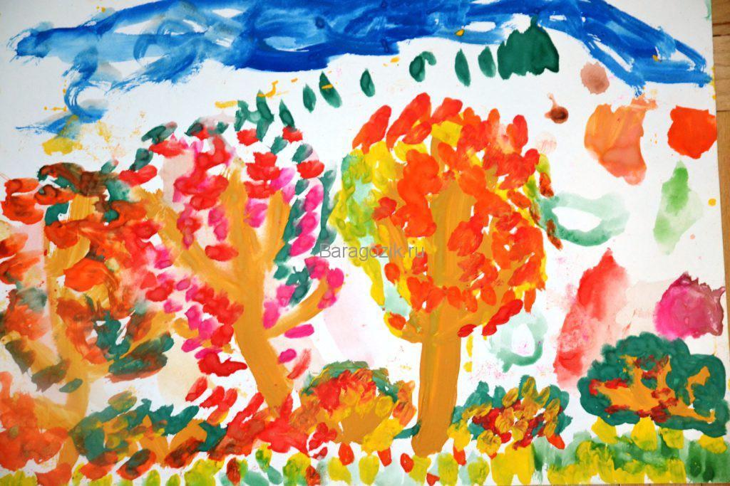 преобладание красного цвета на рисунке ребенка