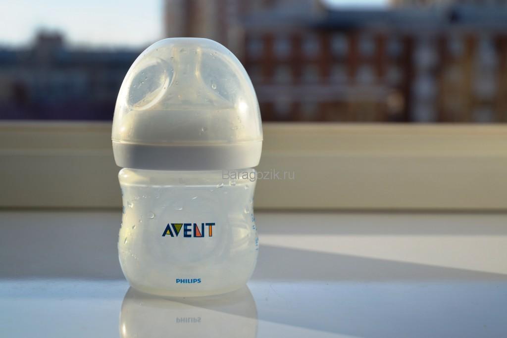 простерилизованная детская бутылочка
