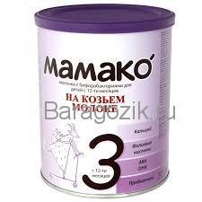 смесь на козьем молоке мамако