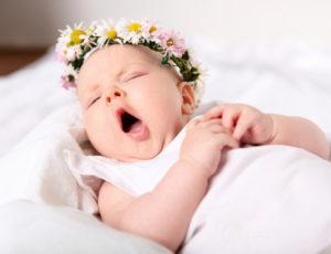Ребенок зевнул