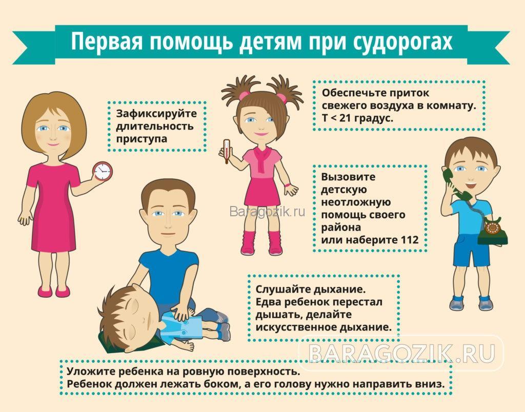 Судороги у ребенка при температуре: что делать?