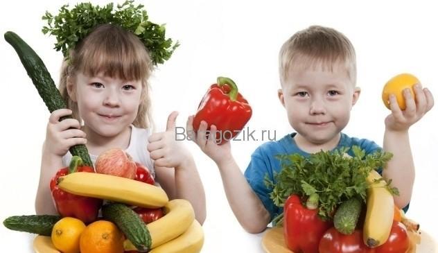 Дети, фрукты