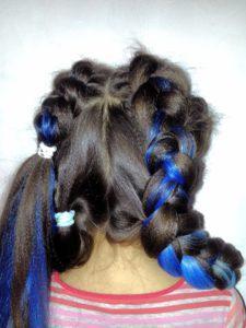 Фиксируем косу