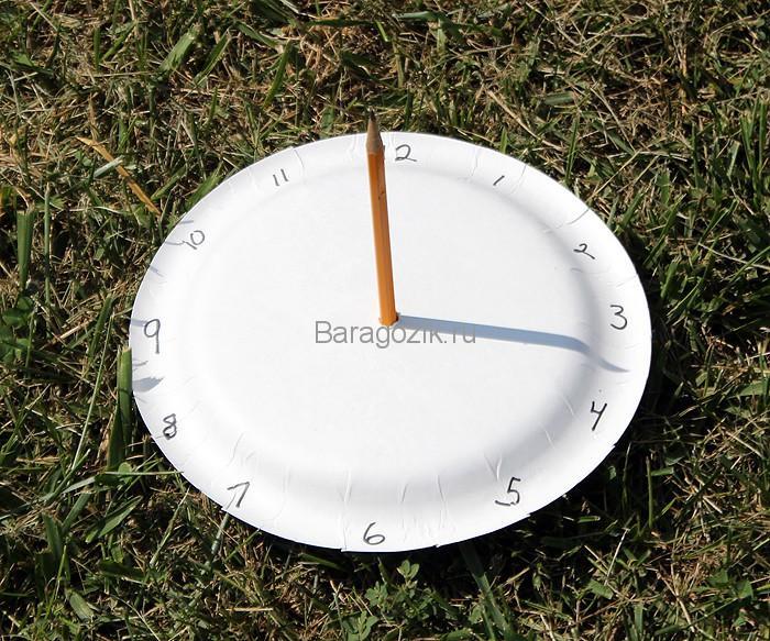 как сделать солнечные часы