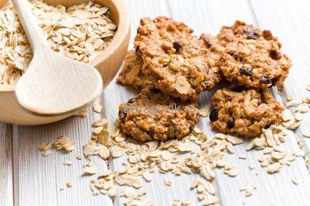 рецепт овсяного печенья с сухофруктами