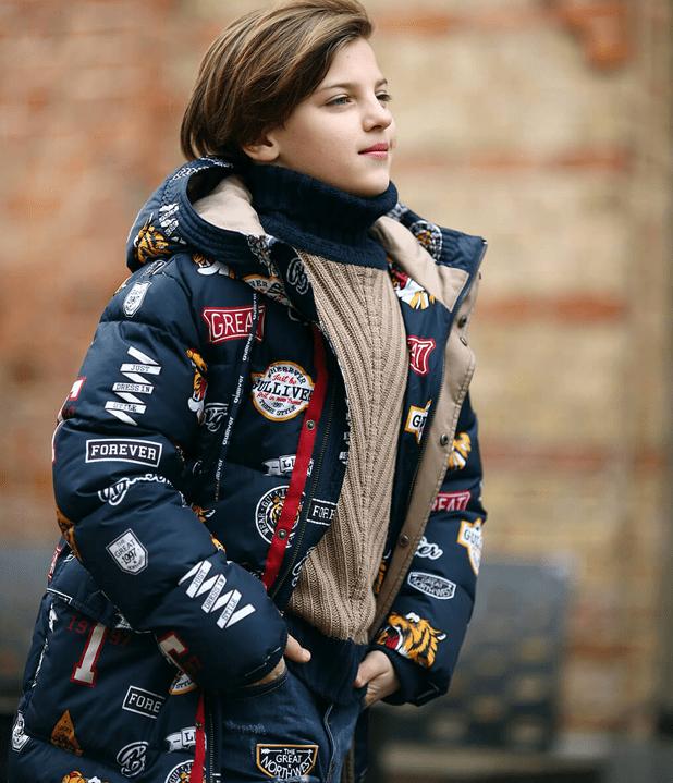 Принтованная куртка