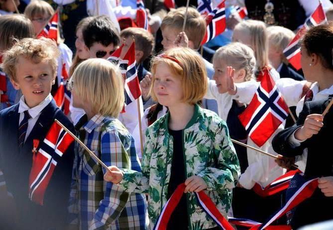 Дети на параде