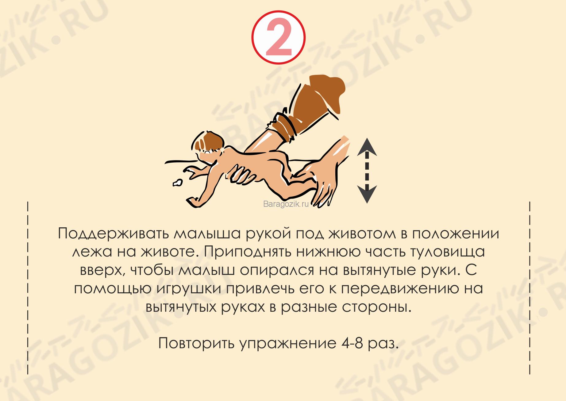 Кривошея у ребенка - упражнение 2