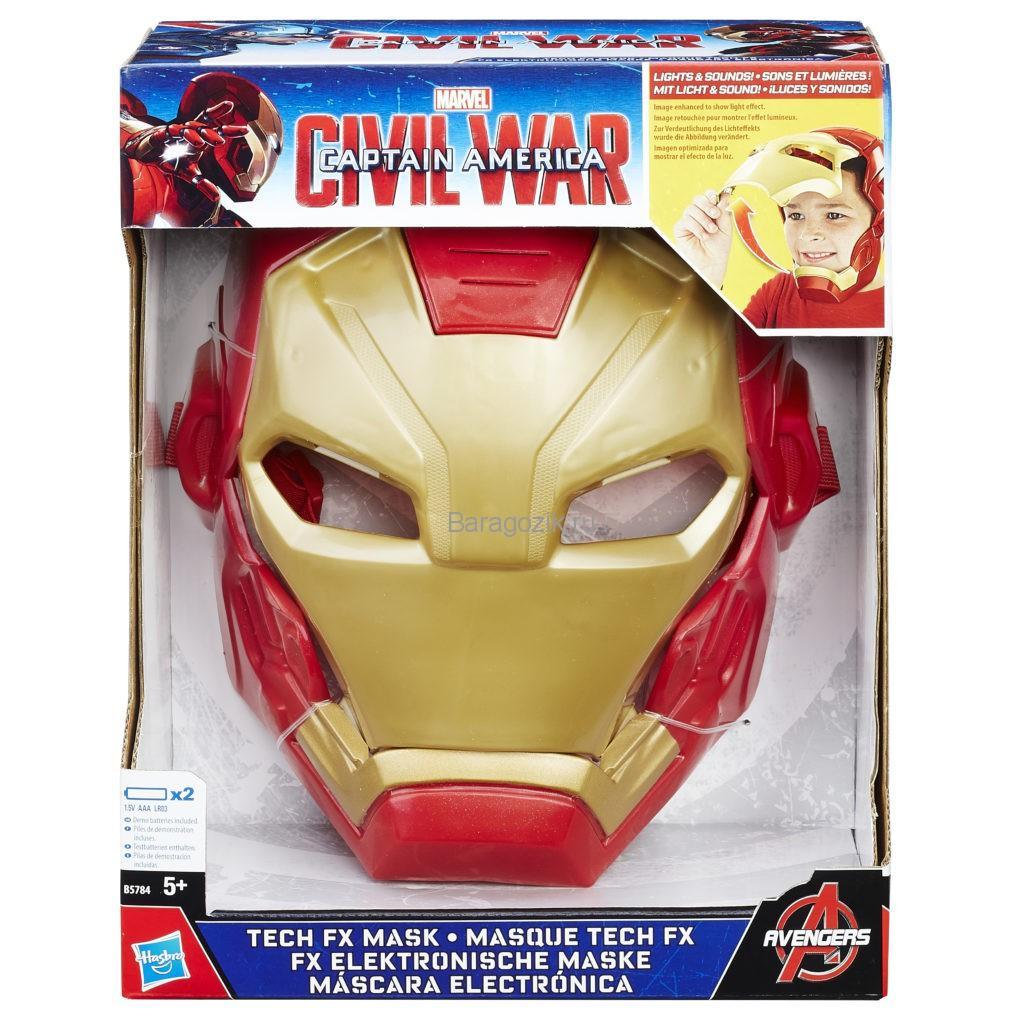 Электронная маска Железный человек Мстители