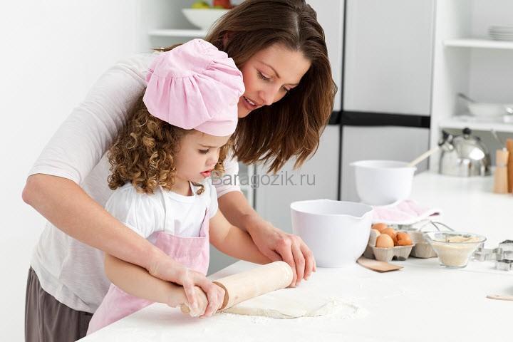 как учить детей готовить еду