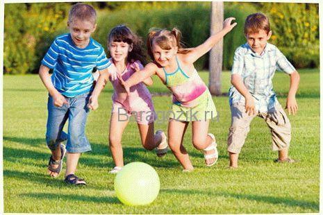 игры с мячом для детей 4-7 лет