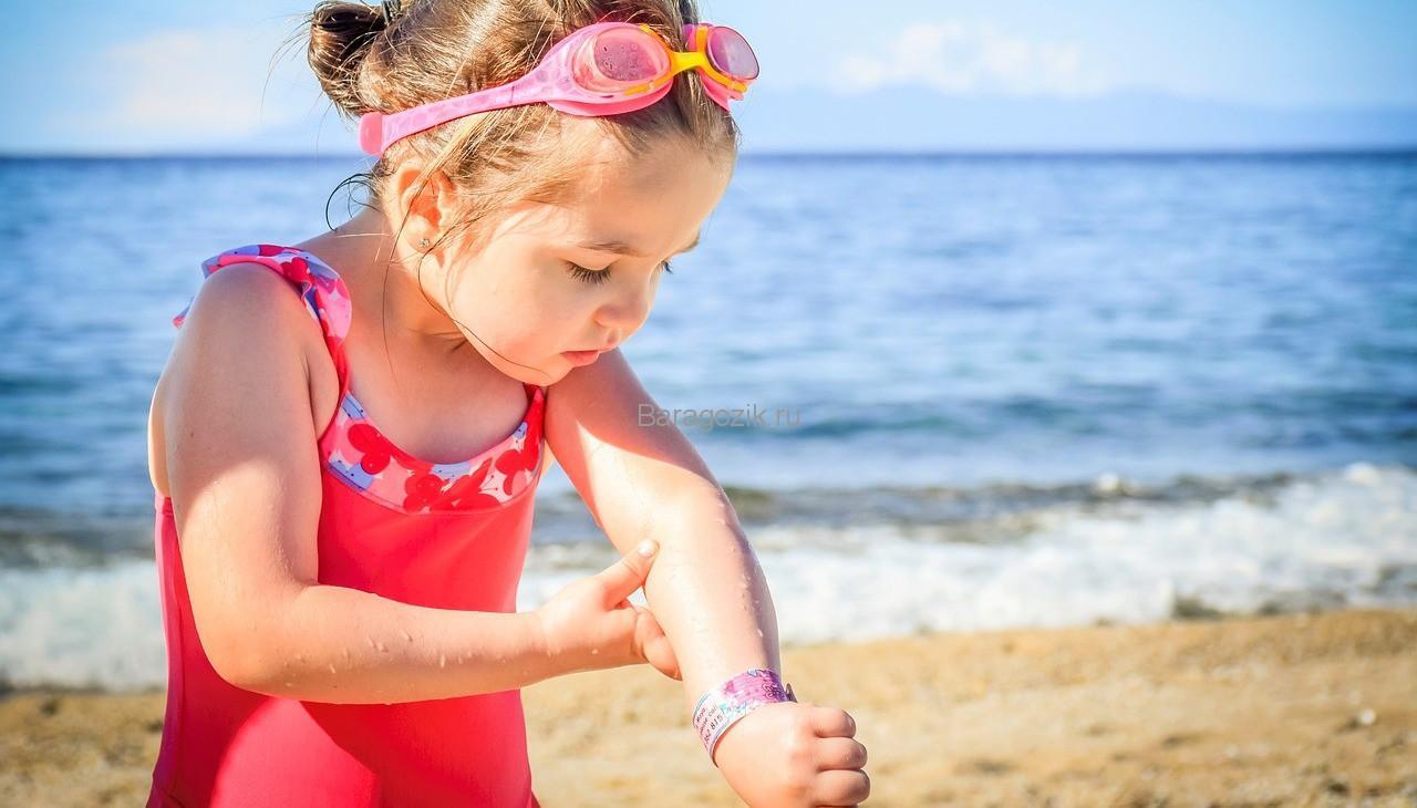 лечение солнечных ожогов у детей