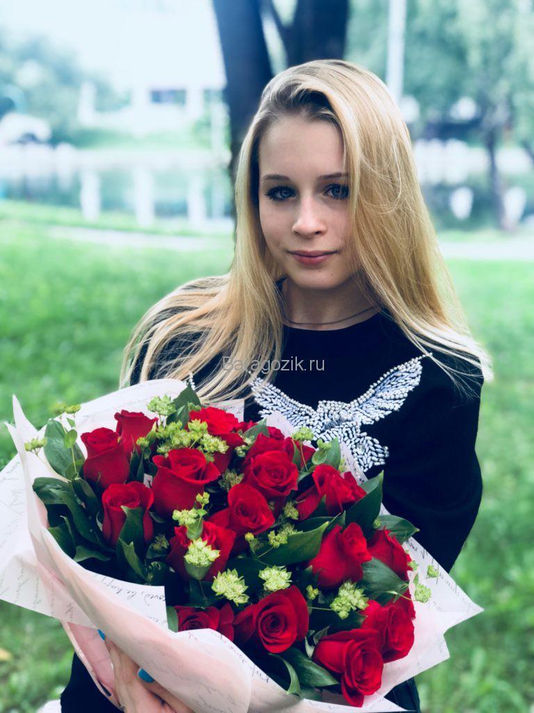 Дарья Паненкова с цветами