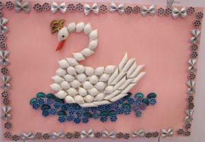 лебедь из макаронных изделий