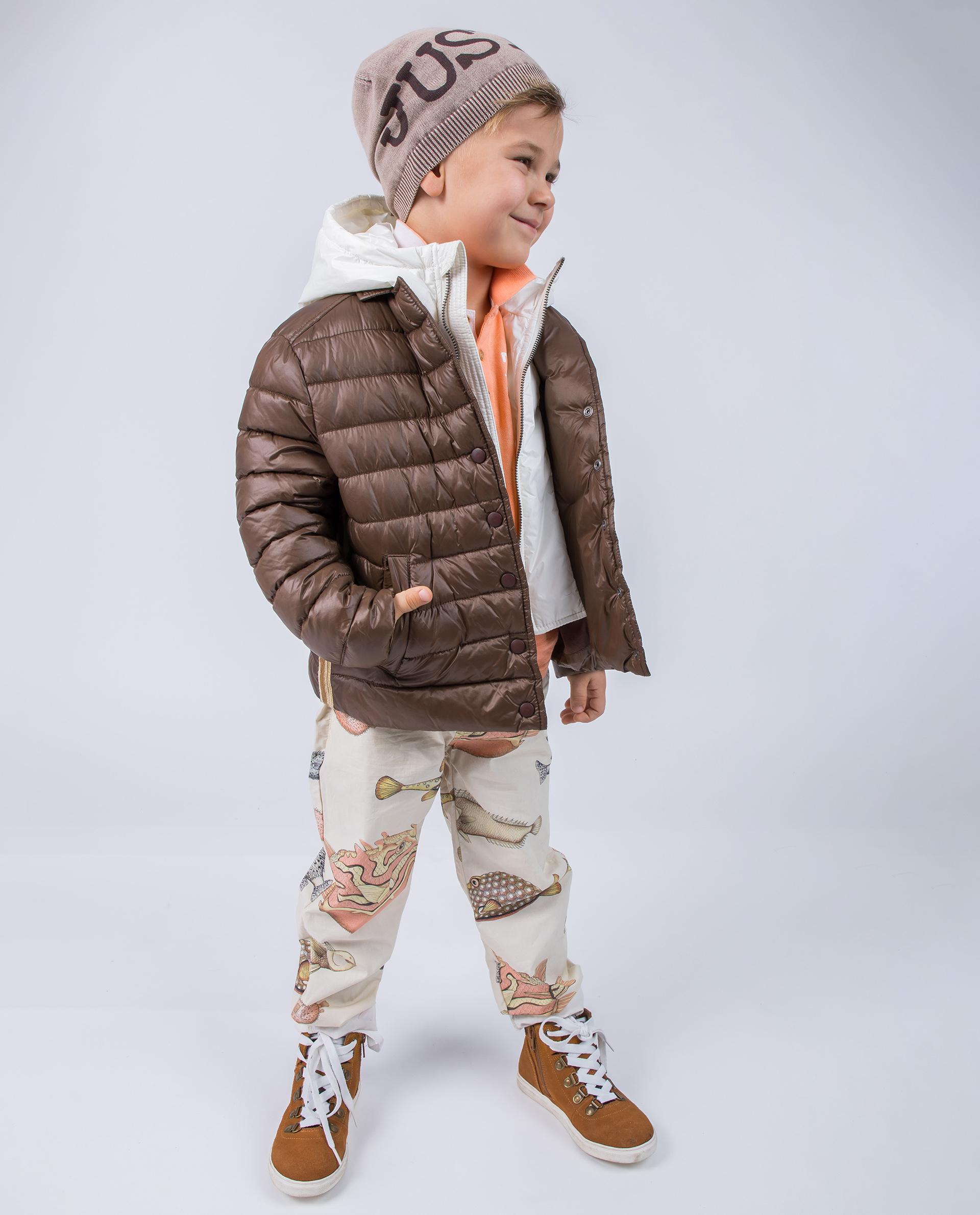 Стёганая коричневая куртка